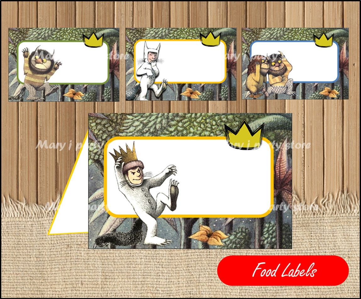 Where the Wild Things food label Where the Wild Things tent cards instant download  sc 1 st  Pinterest & Where the Wild Things food label Where the Wild Things tent cards ...