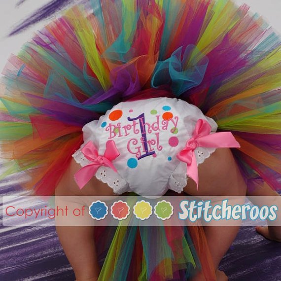A Cupcake Themed 1st Birthday Party With Paisley And Polka: Polka Dot Bloomers Bday Tutu