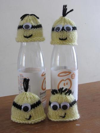 Innocent Big Knit Minions Hats Free Knitting Pattern Crafts