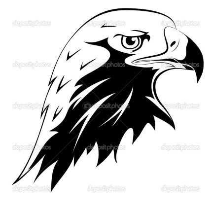 Tattoos. Eagle's head