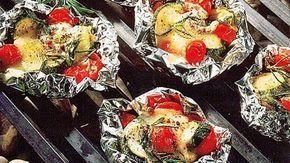 Gemüsepäckchen mit Mozzarella #easyshrimprecipes