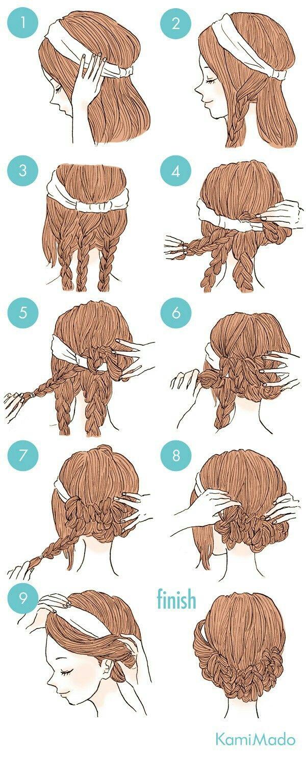 Auto peinados recogidos faciles
