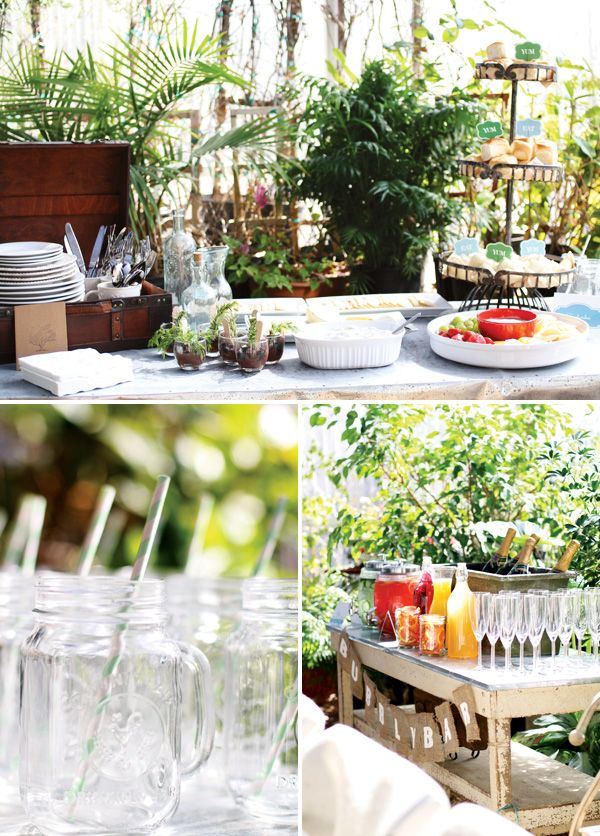 outdoor themes bridal shower   Charming Greenhouse Bridal Shower Ideas // Hostess with the Mostess®