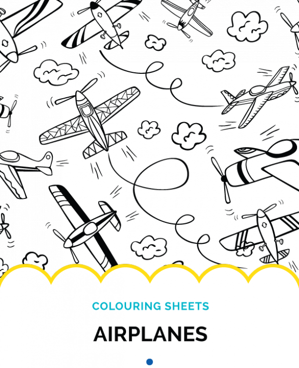 Colouring Sheets Airplane Colouring Pages The Party Cupboard