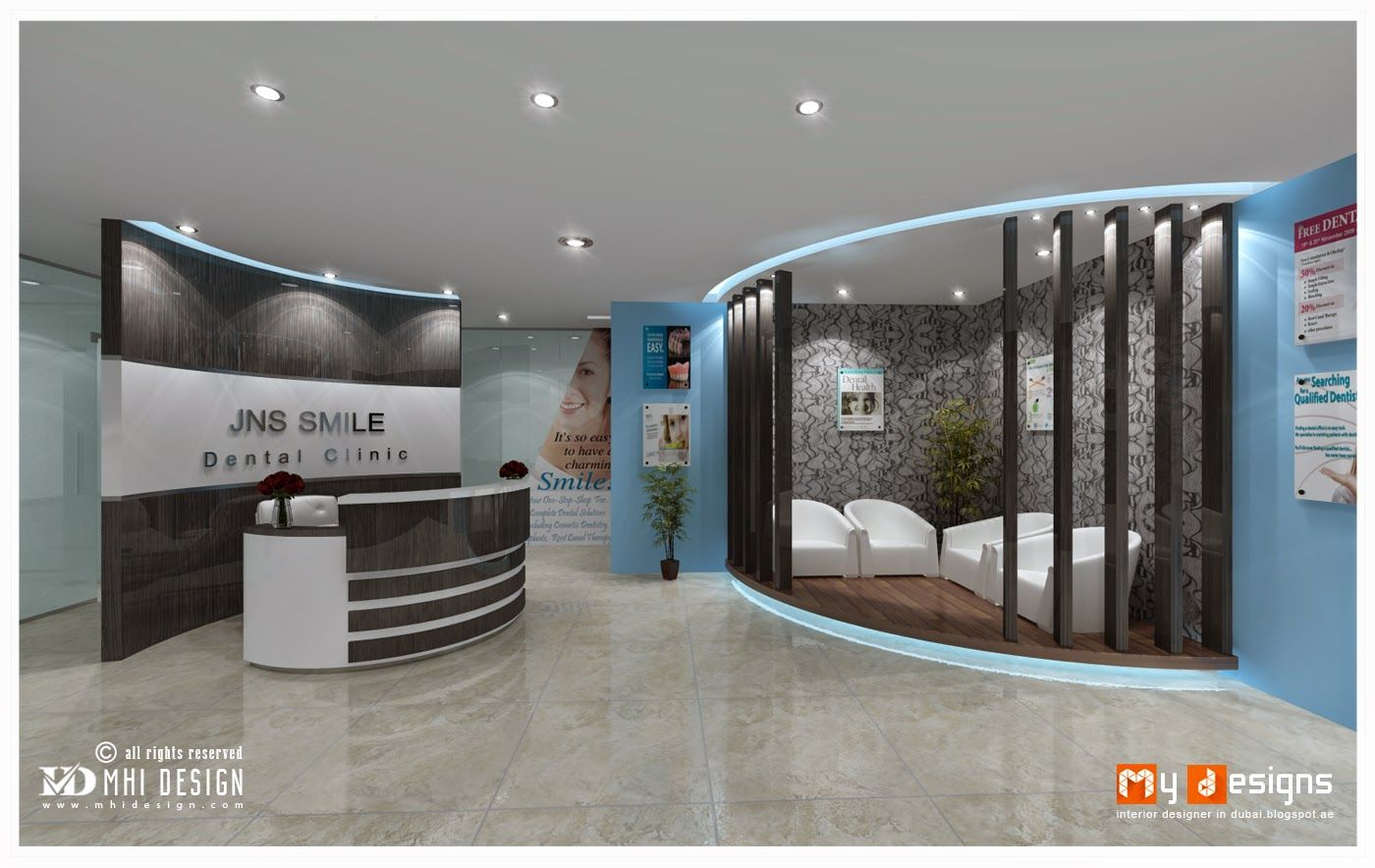 Dubai Dental Clinic Interior Design Proposal For JNS Smile One Of Office