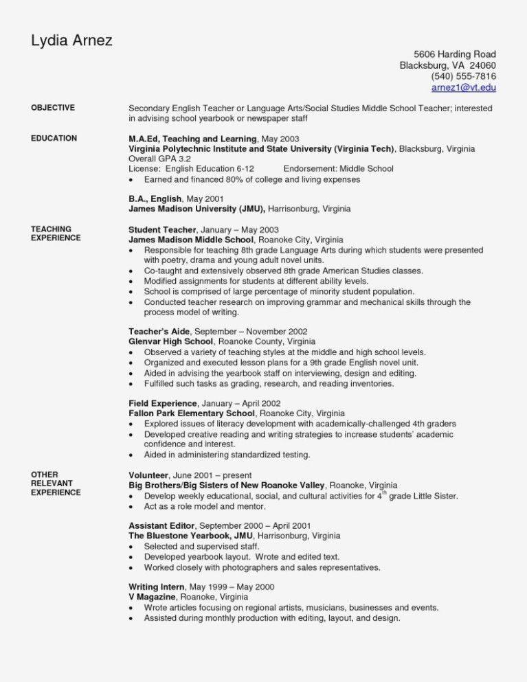 Simple Resume Template Ross School Of Business Resume