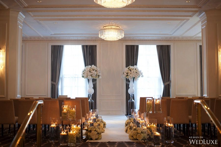 Luxury Wedding Indoor: The Bride Wore Pronovias At This Rosewood Hotel