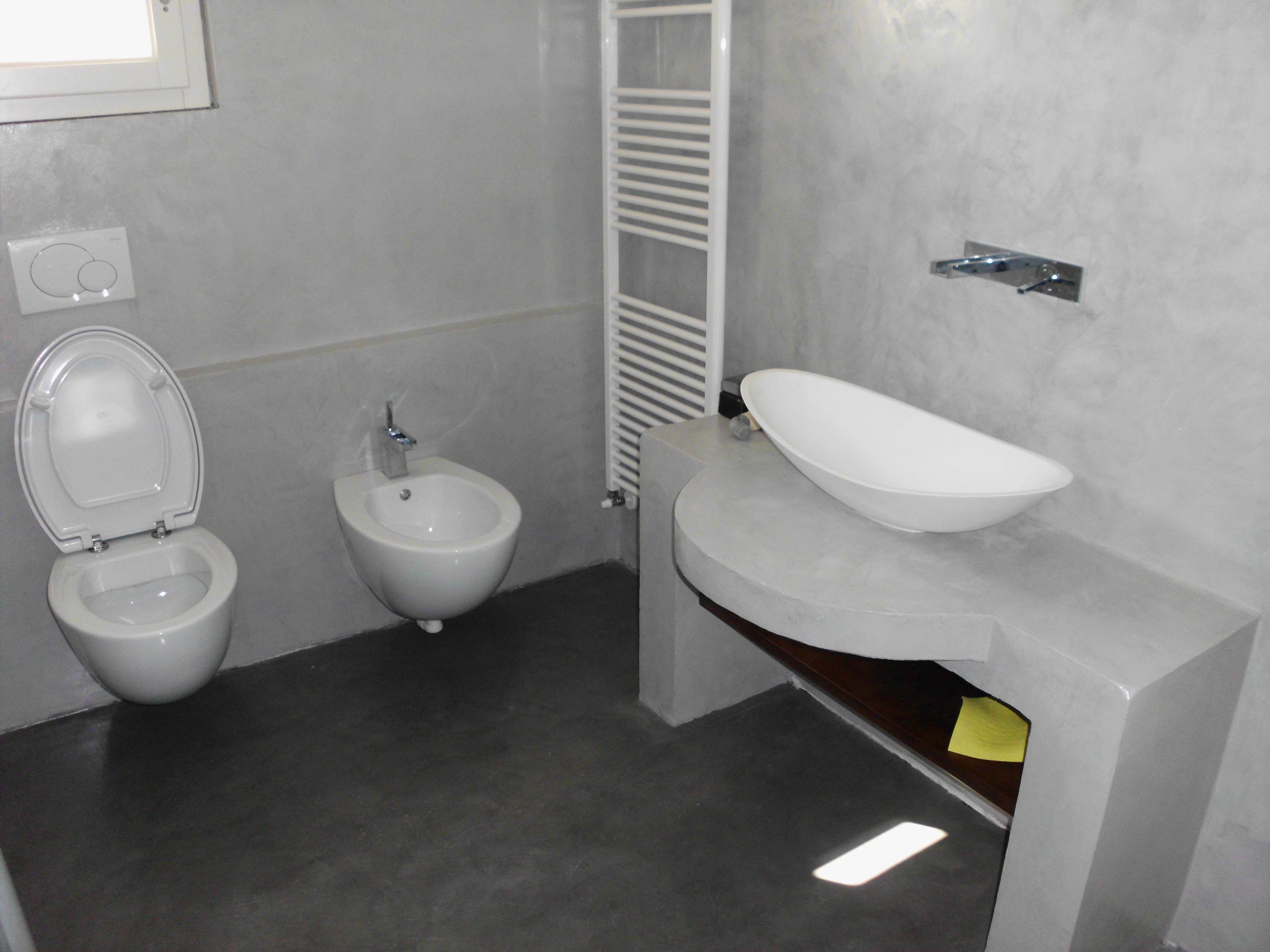 Ardesia Bagno ~ Ardesia grigio e beige per i colori di questo bagno dove i