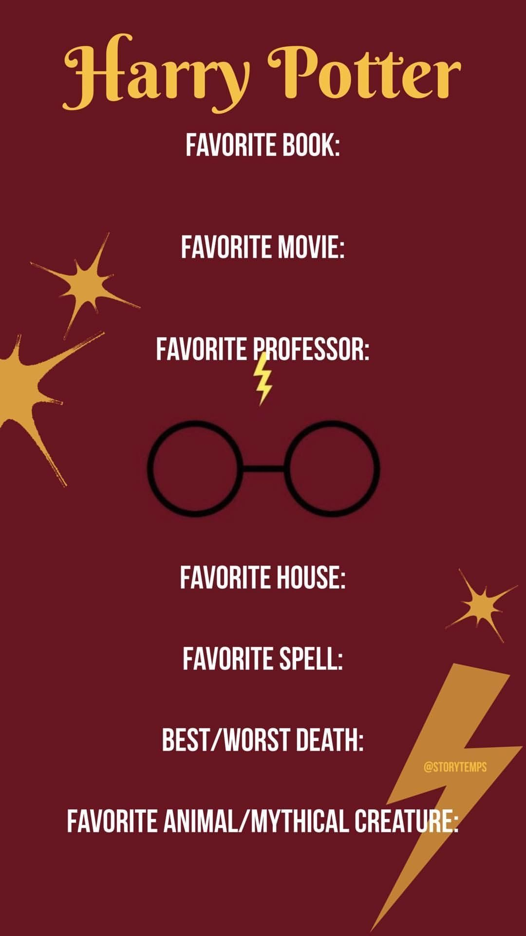 Image Result For Harry Potter This Or That Questions Template