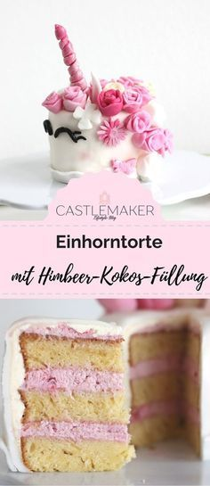 Recipe for unicorn cake with raspberry and coconut filling – Castlemaker Lifestyle