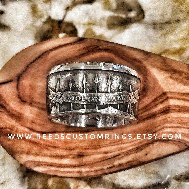 c4627ef94722 Pure Silver Molon Labe Ring   www.reedscustomrings.etsy.com  molonlabe
