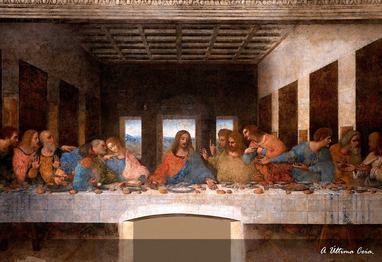 Leonardo Da Vinci A Ultima Ceia 1495 1498 Quadro Da Vinci