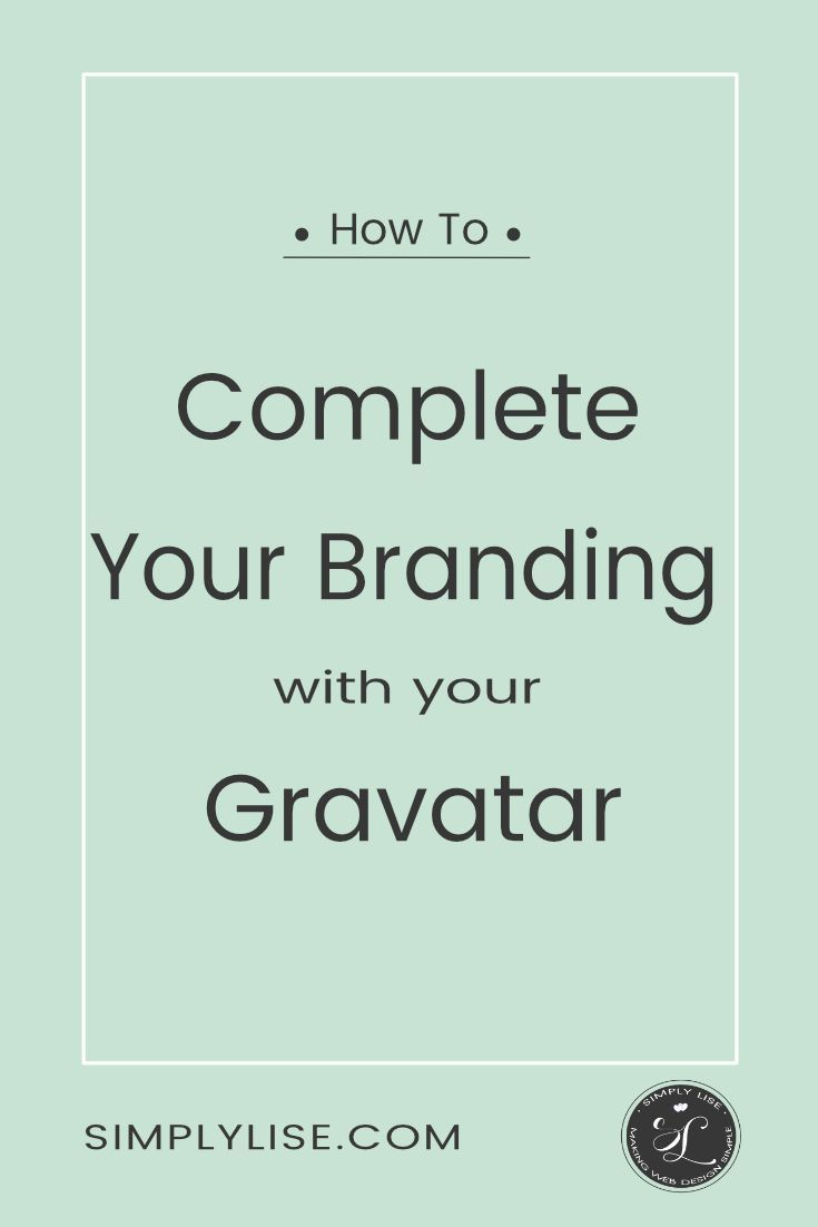 You need a gravatar to complete your site branding