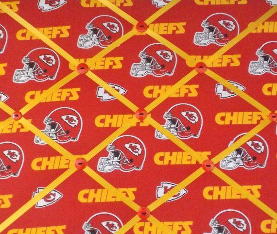Kansas City Chiefs Fabric Memory Board Memo Board Bulletin Board Pin Board Kc Chiefs Gift Memory Board Kc Chiefs Gifts Business Card Organizer