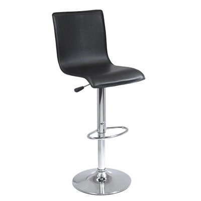 winsome wood 93145 high back shape air lift bar stool chairs