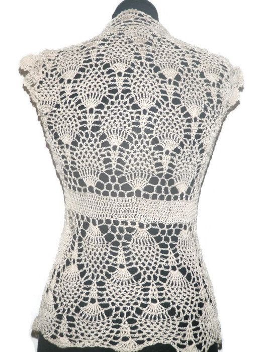 Lace crochet pineapple top, summer crochet blouse | Products | Pinterest
