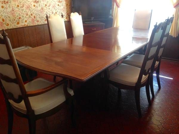 Mid Century Dining Set With Ladder Back Chairs Detroit Michigan