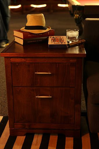 Man Tables It S A Fridge Side Table Looks Fancy And Is Functional End Tables Small Man Cave Southern Living Rooms