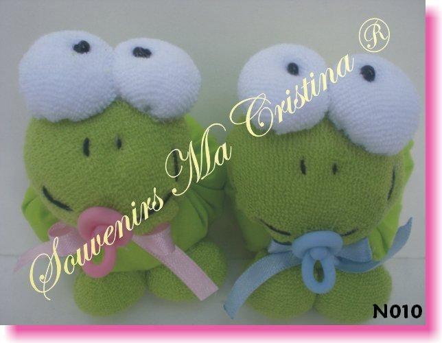 Souvenirs Sapitos o ranitas con chupete, ideales para nacimientos, baby shower