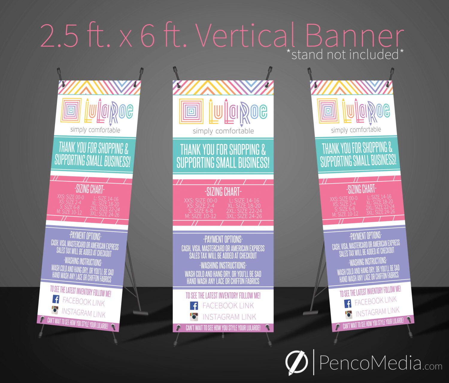PRINTED Vertical LuLaRoe Banner (stand included) , Great for ...
