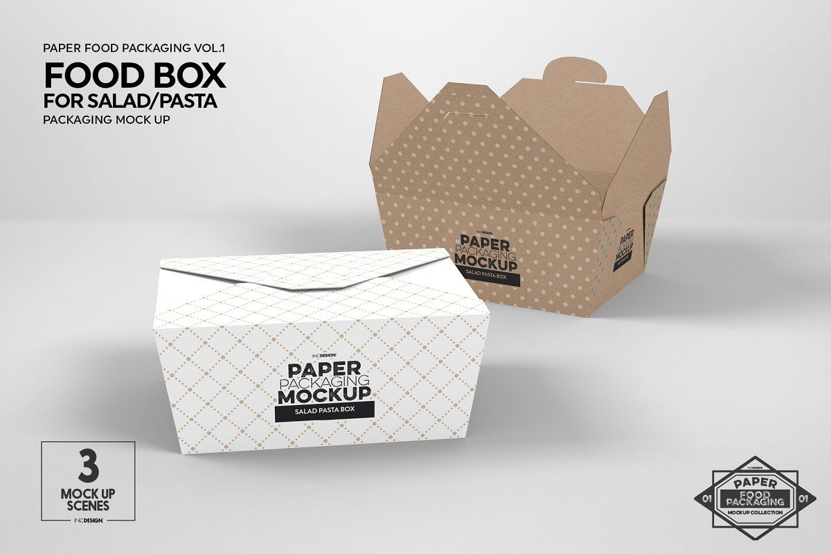 Download Salad Food Box Packaging Mockup Food Box Packaging Packaging Mockup Free Packaging Mockup