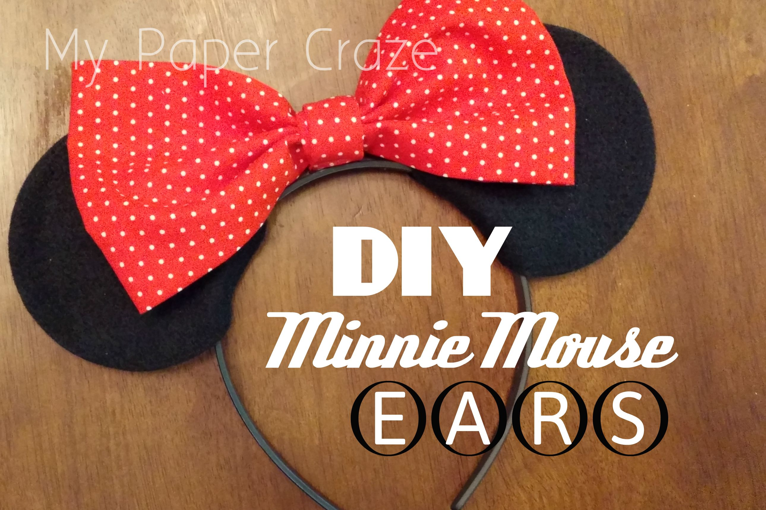 Diy No Sew Minnie Mouse Ears And Bow Tutorial All Things Disney