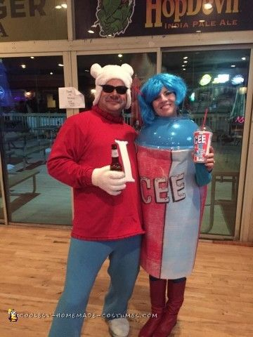 The Coolest ICEE and Polar Bear Couple Costume Costumes - clever halloween costume ideas