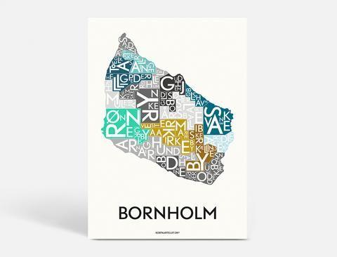 Bornholm Special Edition 50x70 Cm Kort Plakater Google
