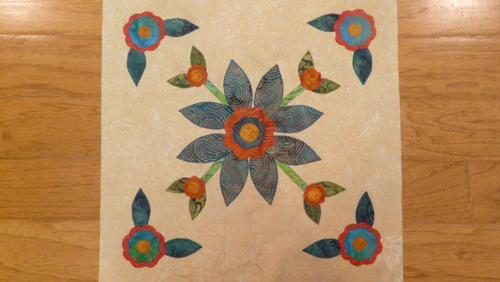 Rose Of Sharon Quilt Block 5 Applique Quilts Rose Of