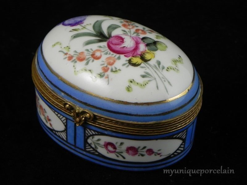 Small Pill Boxes Decorative Enchanting Antique Meissen France Hand Painted Flowers Trinket Box  Boxes Decorating Inspiration