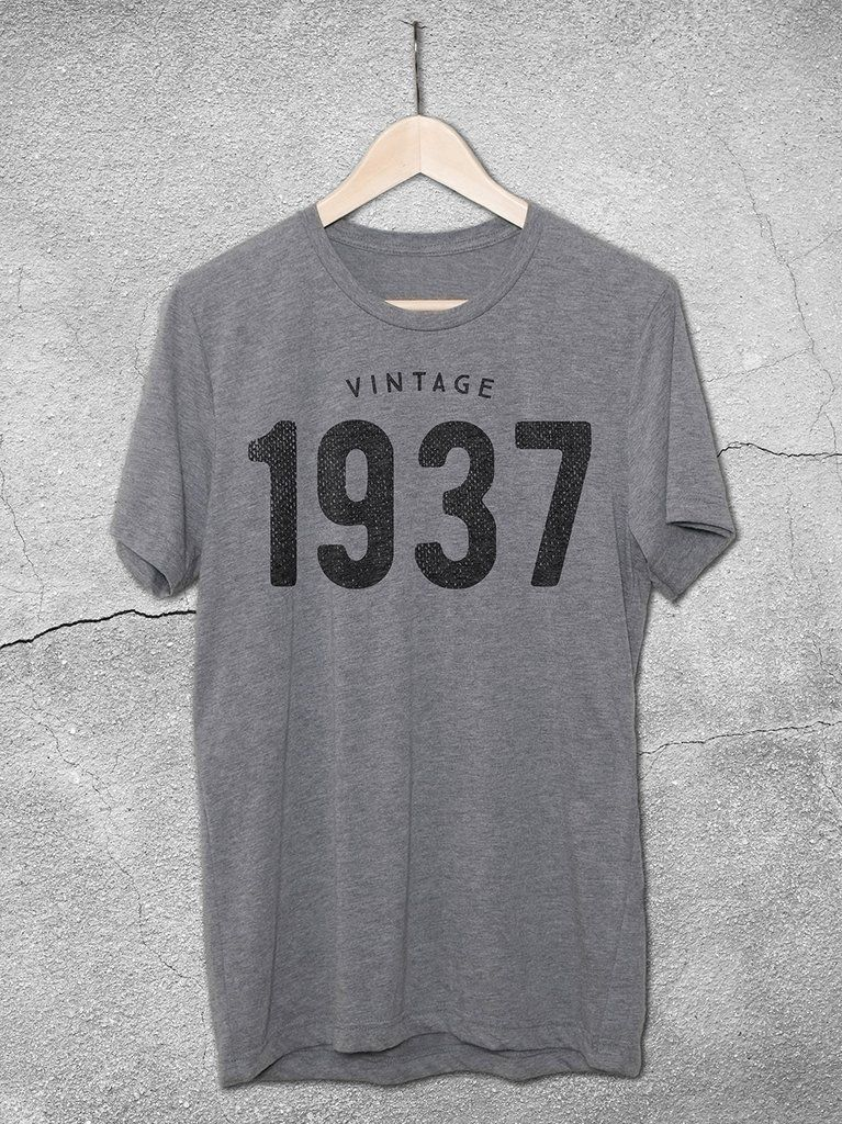 80th Birthday Gift Ideas Give The Of A VINTAGE 1937 T Shirt By Hello Floyd This Casual Graphic Tee Is Perfect For Both Women And Men