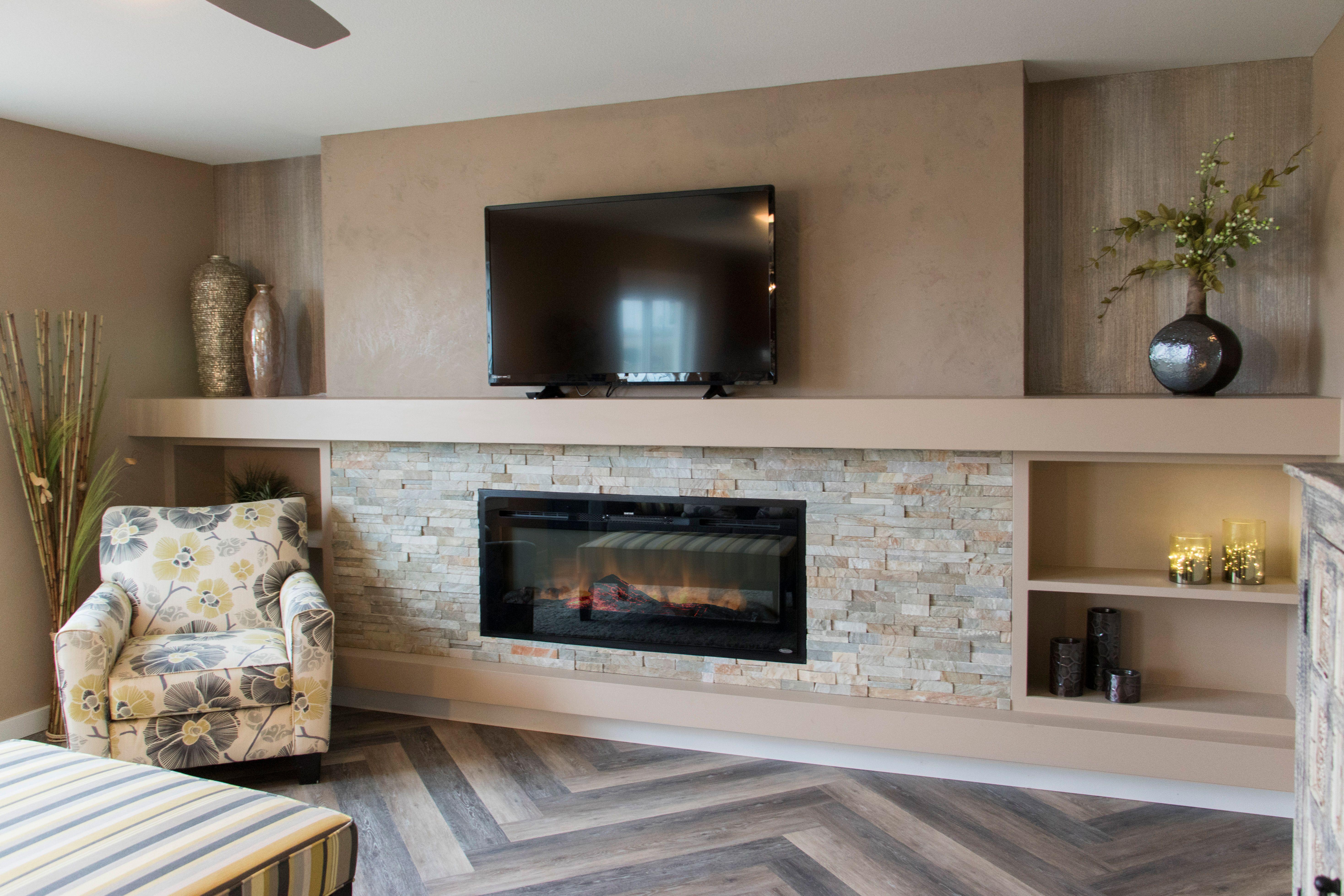 Stunning custom herringbone floors with built-in ...