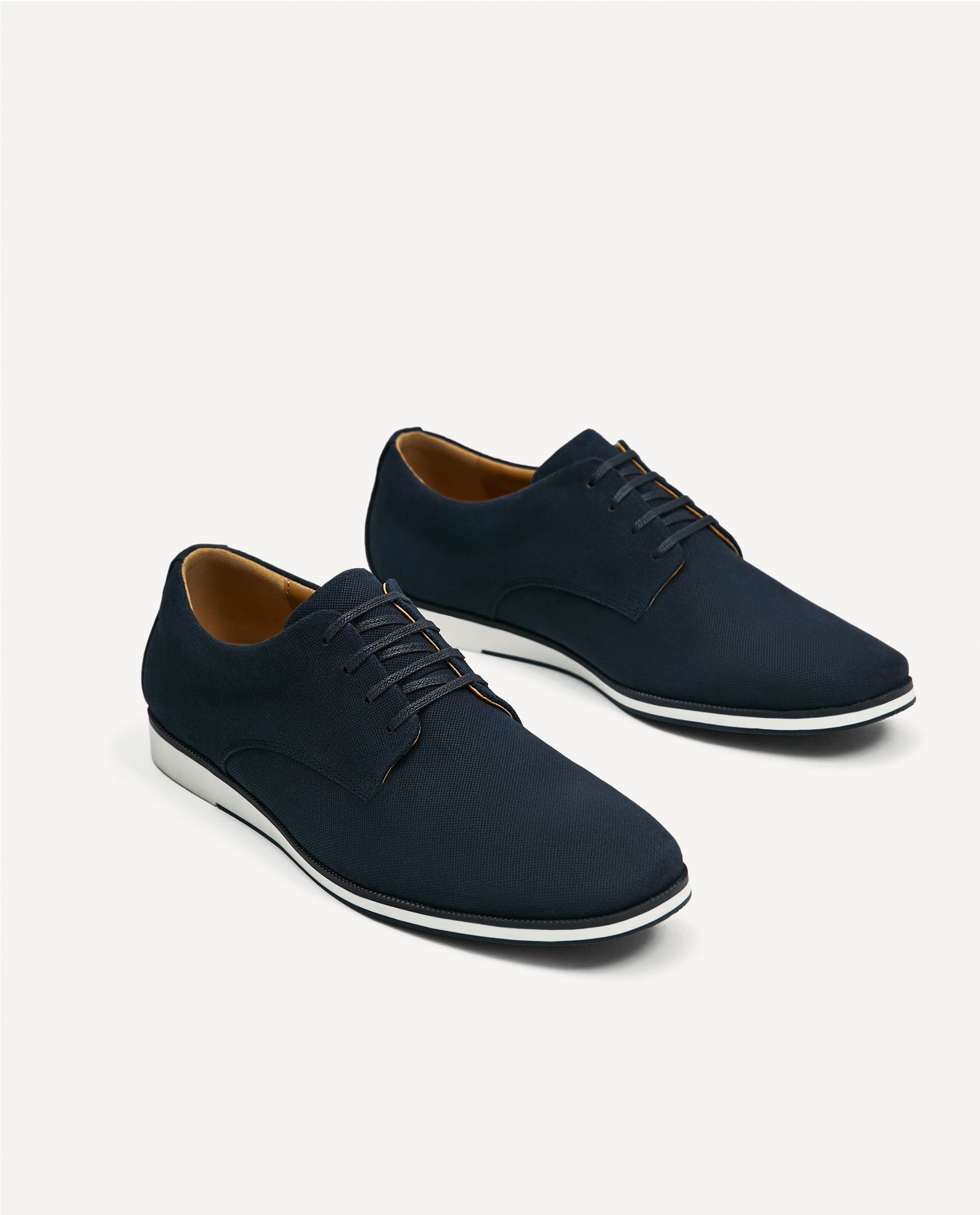 6e6becde ZARA - MAN - EMBOSSED LEATHER SHOE Zapatos Negros Hombre, Zapatos Elegantes  Hombre, Zapatos