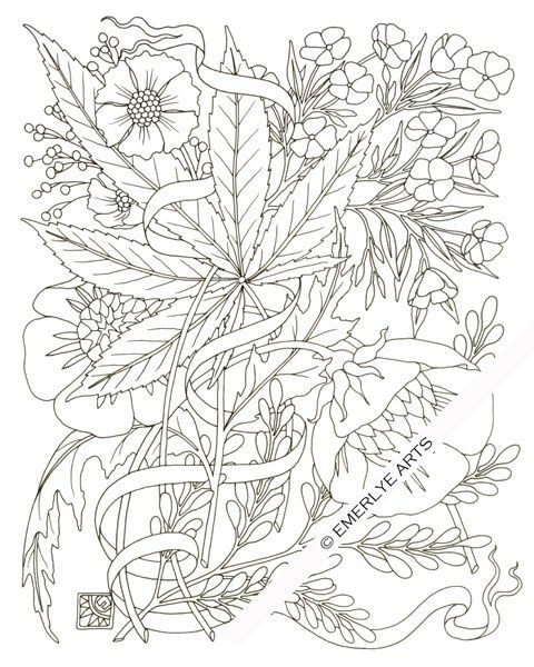 Free printable weed coloring pages adult art pinterest for Coloring pages weed