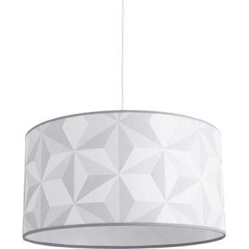 suspension origami metropolight, gris titane, 60 watts, diam. 39