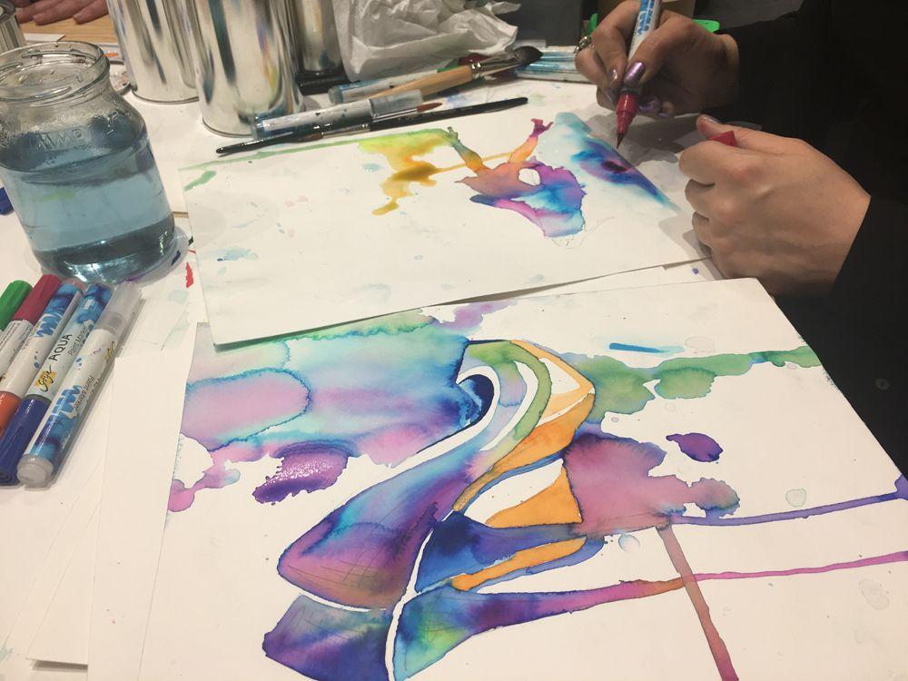 Aquarell Malerei Wasserfarbe Malerei