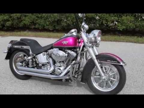Used Custom Pink Harley Davidson Deluxe Softail For Sale Tampa