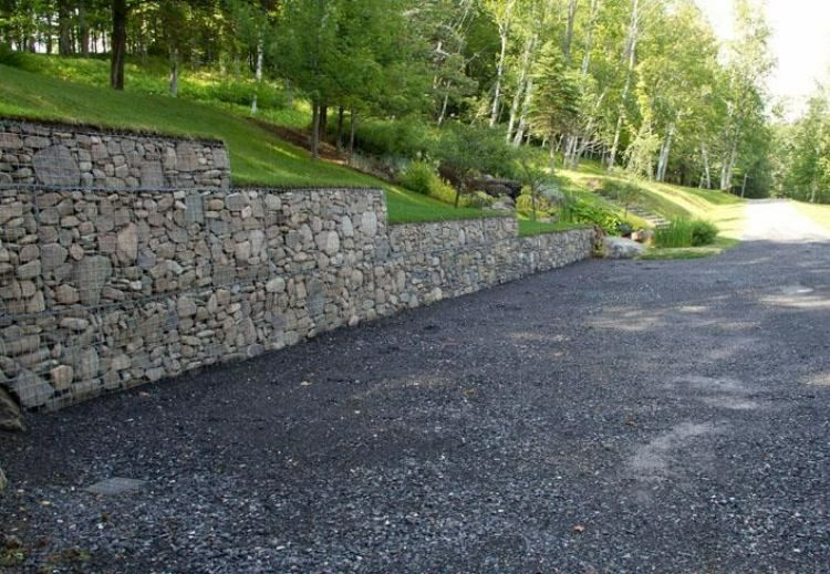Gaviones y muros de alambre y piedras - 63 diseños jardin Pinterest