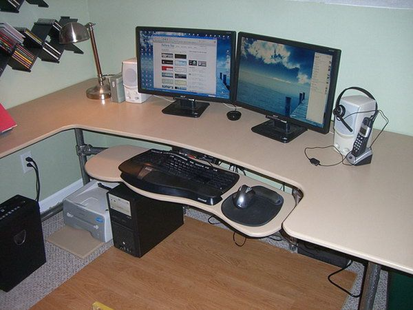 15+ DIY Computer Desks Tutorials For Your Home Office Images