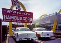 The Fifties.   Pictured: McDonald's store #1 located west of Chicago, Illinois. Photographs in the Carol M. Highsmith Archive, Library of Congress, Prints and Photographs Division.
