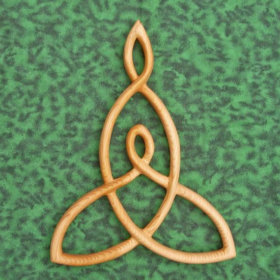 Mother And Child Knot Wood Carved Celtic Knot Mothers Love