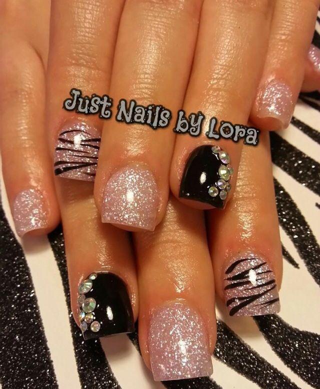 zebra acrylic nails ideas