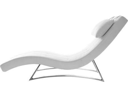 Chaise Longue Design Blanc Monaco Miliboo Arredamento Esterno Arredamento Poltrone