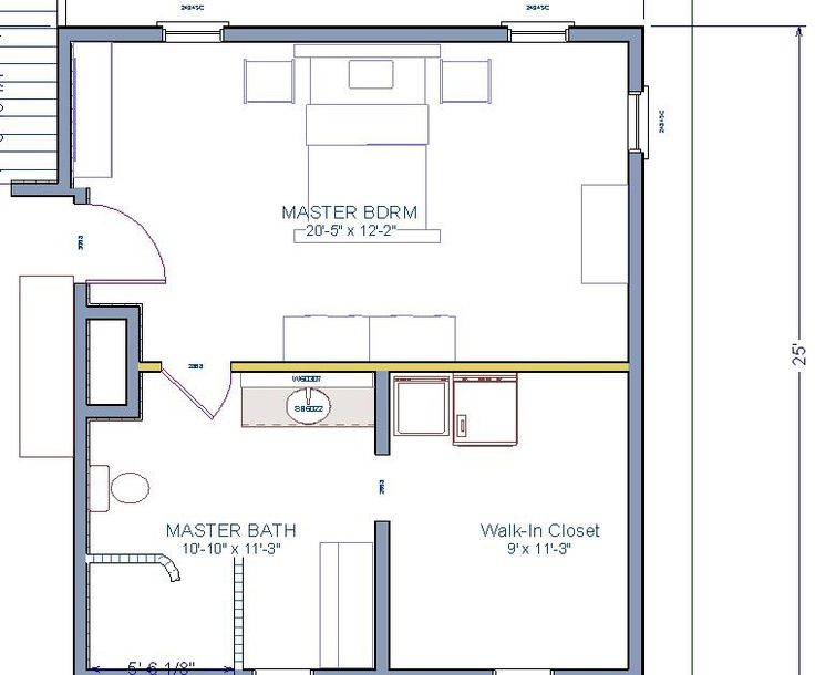 Master Bedroom Addition This Would Actually Work Minus The Stairs But A Long Time From No Master Bedroom Plans Bedroom Floor Plans Master Suite Floor Plan