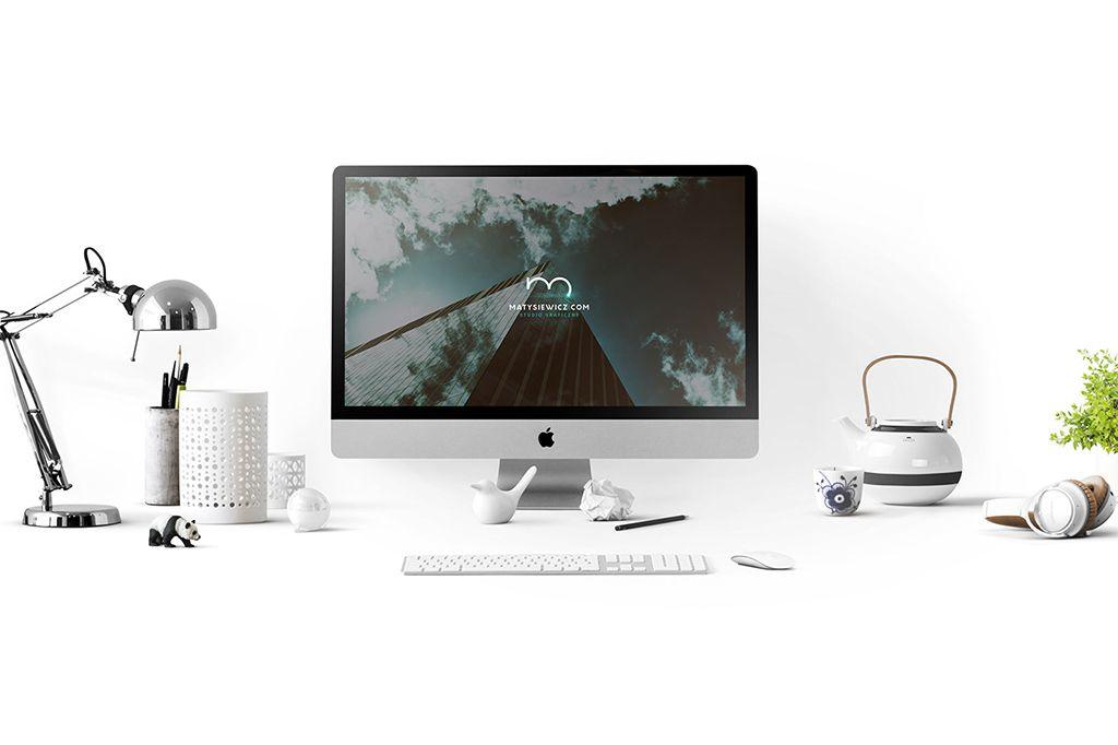 Free Imac Desk Mockup Set Psd 1 Macbook Mockup Mockup Desk Imac