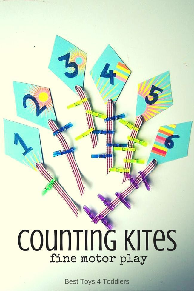 Counting Kites Fine Motor Play | Pinterest | Math activities, Motor ...