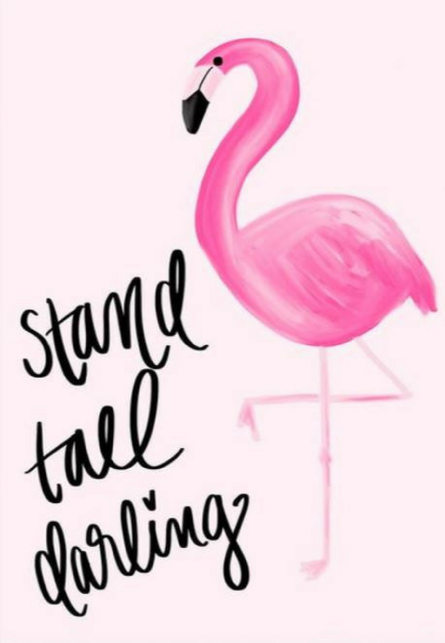Inspirational wall art quote stand tall darling