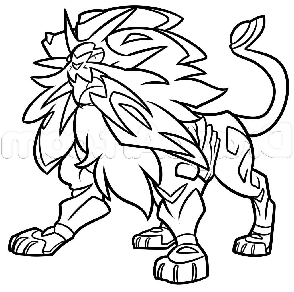 How To Draw Solgaleo Dessin Pokemon Coloriage Pokemon Dessin