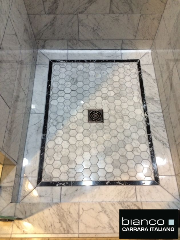 Carrara Bianco Polished Marble Bathroom With Images Carrara Marble Bathroom Marble Bathroom Floor Marble Bathroom