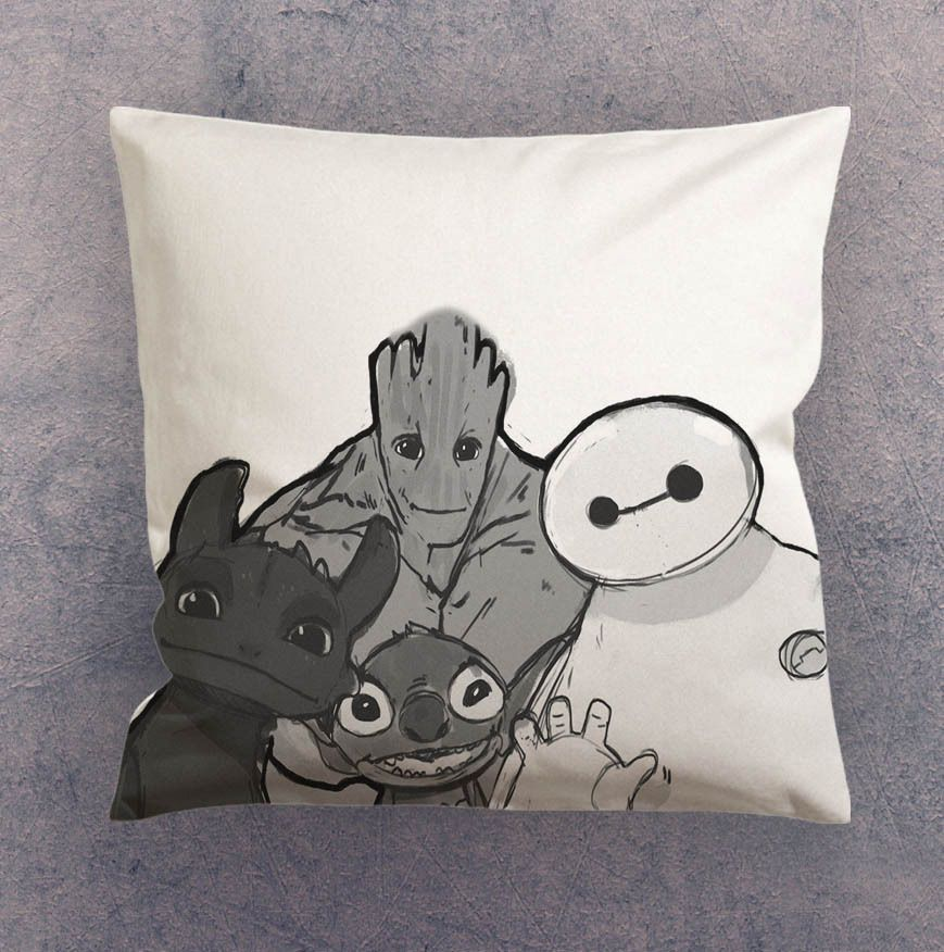 Pillow cases - Baymax Groot Stitch Toothless #Unbranded